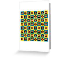 Foxes - seamless pattern Greeting Card