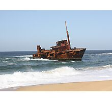 Sygna Shipwreck at Stockton Beach. Photographic Print