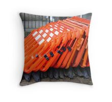 the herd in a huddle Throw Pillow