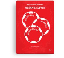No056 My Oceans 11 minimal movie poster Canvas Print