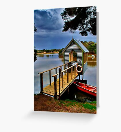 """""""Lunch Over The Lake"""" Greeting Card"""