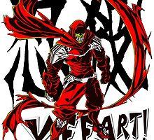 Ninja Slayer Yeeart! Black Kanji by gamermanga