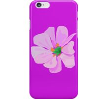 A Single Pink Flower iPhone Case/Skin