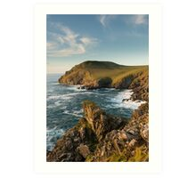 Cornwall's rugged coastline Art Print