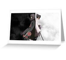 POSTER - Itachi & Sasuke Uchiha Greeting Card