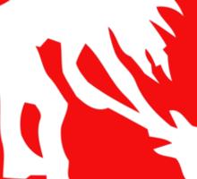 Smashing guitar - RED sign Sticker
