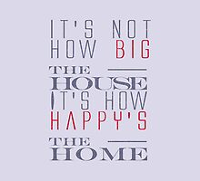The house quote stylish black and white illustration by vinainna