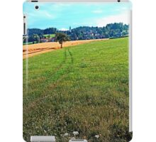 Fields, flowers and a hiking trail | landscape photography iPad Case/Skin