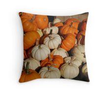 Market - Mini Pumpkins Throw Pillow