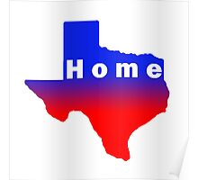 Iskybibblle /Home Range / Texas Red Blue Poster