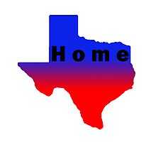 Iskybibblle /Home Range / Texas Red Blue2 Photographic Print