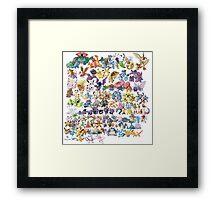 151 Pokemon Art Framed Print