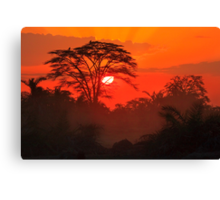 African Sunrise, Amboseli National Park, Kenya, Africa. Canvas Print