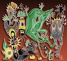 dancing geckos by arteology