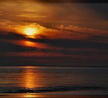 Evening At The Wadden Sea #2 by Britta Döll