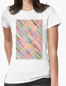 Colorful Squares Womens Fitted T-Shirt