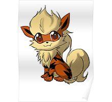 Arcanine Pokemon Design Poster