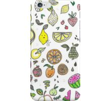 Happy Fruit Illustration  iPhone Case/Skin
