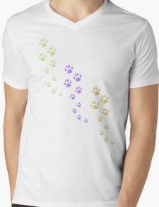 Pawprint T-Shirt Mens V-Neck T-Shirt