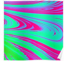 Bubblegum Waves - Pattern Poster