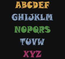 Alphabet Tee by simpsonvisuals