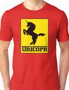 Prancing Unicorn Car Logo Parody T Shirt Unisex T-Shirt