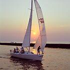 Sailboat at Sunset by BrightWorld