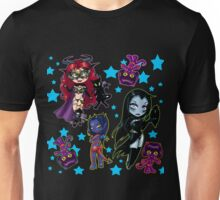 Tarot & Friends Chibi design on Black! Unisex T-Shirt