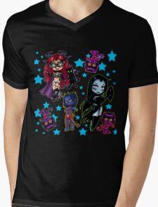 Tarot & Friends Chibi design on Black! Mens V-Neck T-Shirt