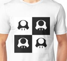 Mushroom in Black and White Unisex T-Shirt