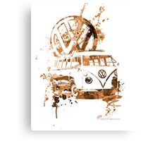 Volkswagen Kombi Splash Sepia © Canvas Print