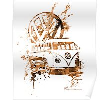 Volkswagen Kombi Splash Sepia Poster