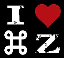 I Love Command Z by Workwithstellio