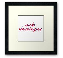 Web Developer Red/Blue gradient Framed Print