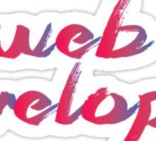 Web Developer Red/Blue gradient Sticker