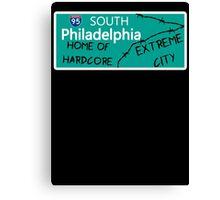 ECW Philadelphia - Hardcore City T shirt Canvas Print
