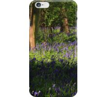 Bluebells on a lovely spring day iPhone Case/Skin
