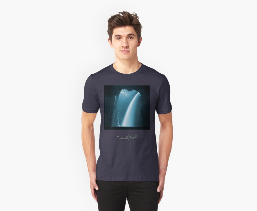 Trümmelbachfälle: cyan 2 (T-Shirt) by Lenka