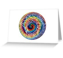 Versace colours Greeting Card