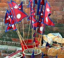 Nepalese Flags by John Dalkin