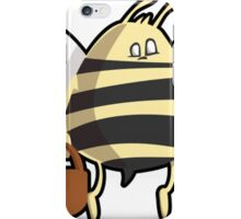 Cartoon Bumble Bee Carrying Honey iPhone Case/Skin