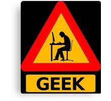 Geek Sign Canvas Print