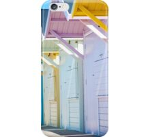 Summer Beach Huts iPhone Case/Skin