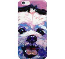 Maltese Dog Bright colorful pop dog art iPhone Case/Skin