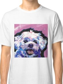 Maltese Dog Bright colorful pop dog art Classic T-Shirt
