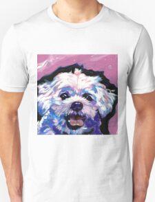 Maltese Dog Bright colorful pop dog art Unisex T-Shirt