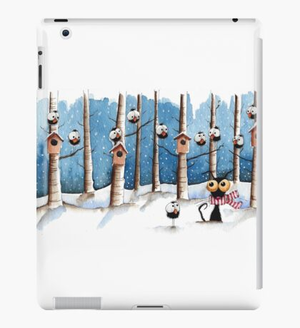 Cat and the crows iPad Case/Skin
