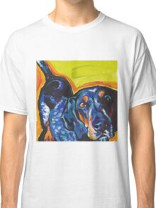 Bluetick Coonhound Dog Bright colorful pop dog art Classic T-Shirt