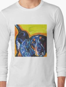Bluetick Coonhound Dog Bright colorful pop dog art Long Sleeve T-Shirt