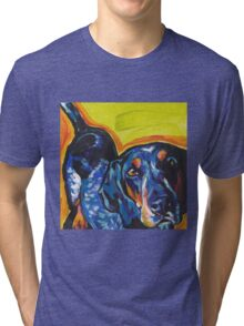 Bluetick Coonhound Dog Bright colorful pop dog art Tri-blend T-Shirt